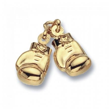 Yellow Gold Pendants -Boxing Glove Double, PN209
